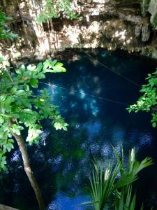 Deep Cave diving in the Cenotes of Yucatan, Mexico