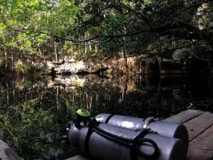 Plataforma de acceso al agua, Cenote Angelita