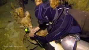 Instalando un salto en Cenote Minotauro