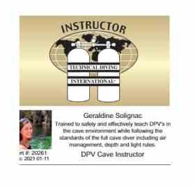 Géraldine Solignac DPV cave instructor