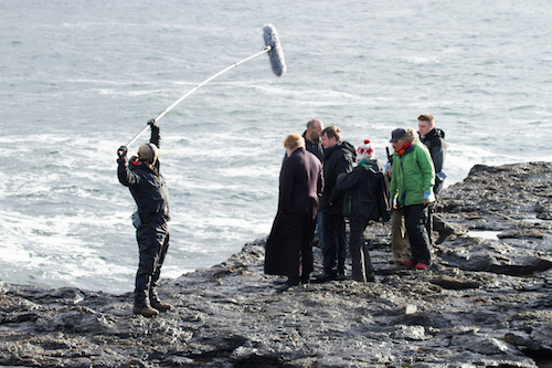 Brendan Gleeson on the set of CALVARY. Photo by Jonathon Hession.
