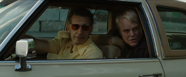 Arthur Capezio (John Turturro) and Mickey Scarpato (Philip Seymour Hoffman) in God's Pocket - (IFC Films, CR: Lance Acord)