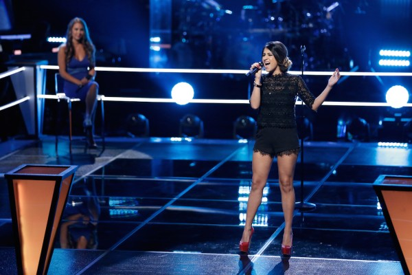 """THE VOICE -- """"Knockout Rounds"""" Episode 711 -- Pictured: (l-r) Alessandra Castronovo, Mia Pfirrman -- (Photo by: Tyler Golden/NBC)"""