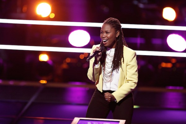 """THE VOICE --  """"Battle Rounds"""" Episode 709 -- Pictured: Anita Antoinette -- (Photo by: Tyler Golden/NBC)"""