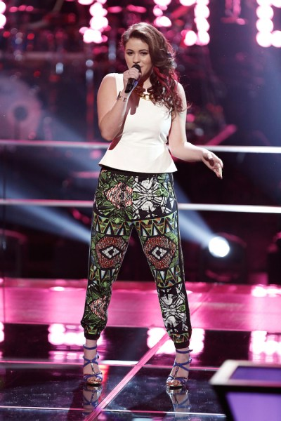 "THE VOICE -- ""Knockout Rounds"" -- Pictured: Reagan James -- (Photo by: Tyler Golden/NBC)"