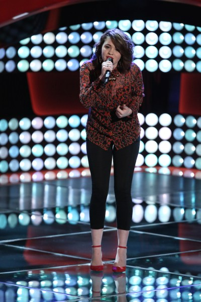 """THE VOICE -- """"Blind Auditions"""" Episode 702 -- Pictured: Reagan James  -- (Photo by: Tyler Golden/NBC)"""