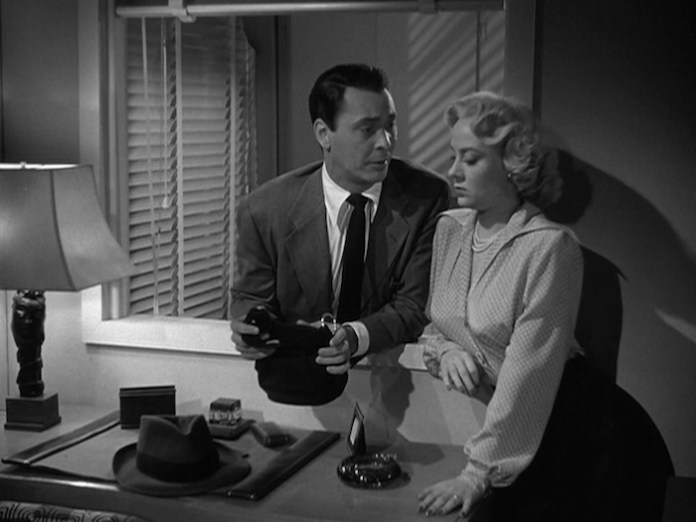 Barry Sullivan & Audrey Totter in 'Tension' - (Warner Bros.)
