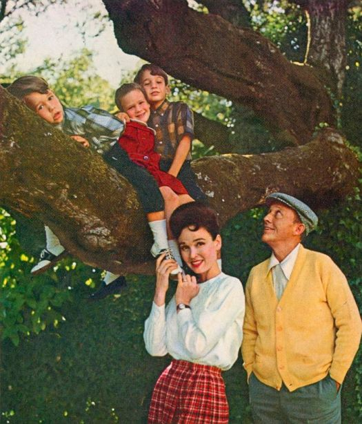 """(l to r) Nathaniel, Mary and Harry with their parents Kathryn and Bing Crosby as seen in """"American Masters: Bing Crosby Rediscovered."""" Photo credit: Courtesy of Bing Crosby Enterprises"""
