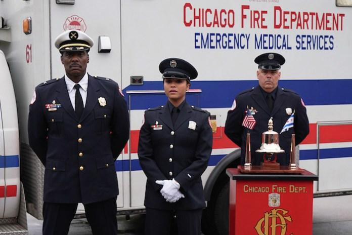 CHICAGO FIRE - Pictured: (l-r) Eamonn Walker as Chief Wallace Boden, Monica Raymund as Gabriela Dawson -- (Photo by: Elizabeth Morris/NBC)