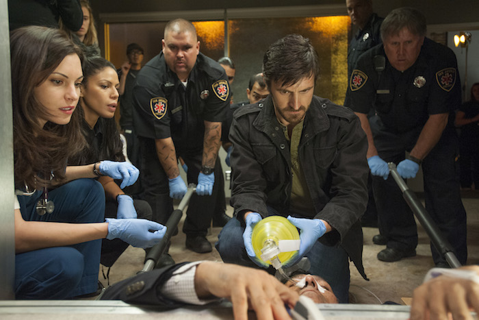 "HE NIGHT SHIFT -- ""Recovery""  -- Jill Flint as Jordan Alexander, Eoin Macken as TC Callahan -- (Photo by: Lewis Jacobs/NBC)"