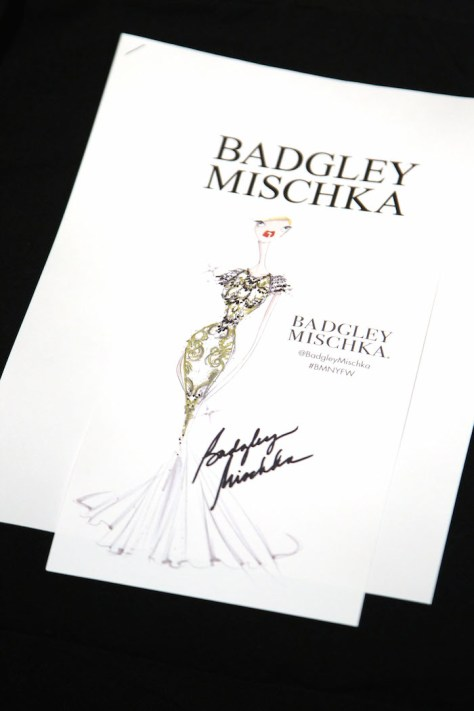 BADGLEY MISCHKA Fall 2015 During Mercedes-Benz NY Fashion Week - Backstage and Front Row -PICTURED: Atmosphere -PHOTO by:Marion Curtis/Starpix