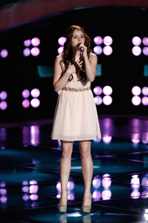 "THE VOICE -- ""Blind Auditions"" -  Pictured: Brooke Adee -- (Photo by: Tyler Golden/NBC)"