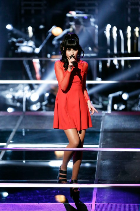 """THE VOICE -- """"Battle Rounds"""" -- Pictured: Mia Z. -- (Photo by: Tyler Golden/NBC)"""