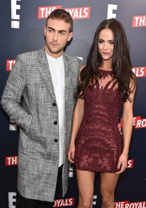 THE ROYALS -- Actors Tom Austen and Alexandra Park at The Royals premier party at The Top of The Standard on March 9, 2015 -- (Photo by: Theo Wargo/E! Entertainment)