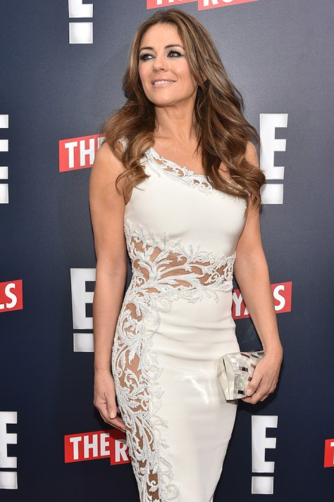 THE ROYALS -- Actress Elizabeth Hurley at The Royals premier party at The Top of The Standard on March 9, 2015 -- (Photo by: Theo Wargo/E! Entertainment)