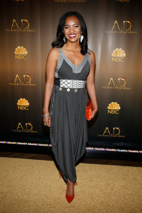 """A.D.THE BIBLE CONTINUES -- NYC Premiere Party, The Highline Hotel, Red Carpet -- Pictured: Chipo Chung, """"A.D. The Bible Continues"""" -- (Photo by: Peter Kramer/NBC)"""