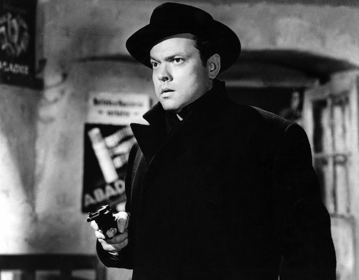 "Harry Lime (Orson Welles ) in ""The Third Man."""