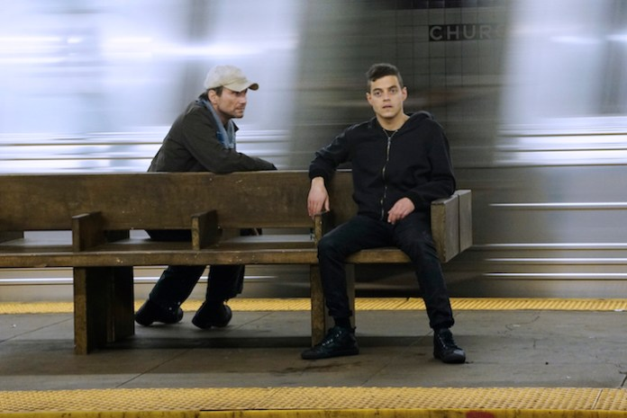 MR. ROBOT  Pictured: (l-r) -- Christian Slater, Rami Malek (Photo by: Peter Kramer/USA Network)