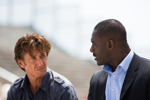 "Sean Penn & Idris Elba in ""The Gunman"" (Universal Pictures Home Entertainment)"