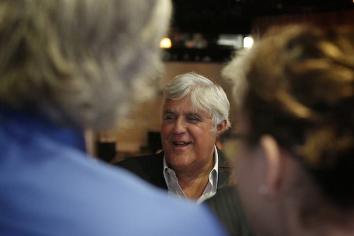 """NBCUniversal Press Tour, August 2015 -- CNBC's """"Jay Leno's Garage"""" Session -- Pictured: Jay Leno, Star -- (Photo by: Ben Cohen/NBCUniversal)"""
