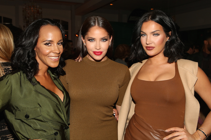 "NBCUNIVERSAL EVENTS --  NBCUniversal Press Tour, August 2015 -- Spago Party -- Pictured: (l-r) Ashley North, Olivia Pierson, Natalie Halcro, E!'s ""WAGS"" -- (Photo by: Evans Vestal Ward/NBCUniversal)"