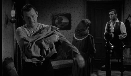 "Leo Gordon, Diane Brewster, George Montgomery in ""Black Patch"" - Warner Archive Collection"