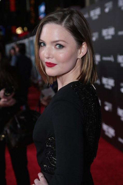 """Holliday Grainger and the cast of Disney's """"The Finest Hours"""" were greeted by the U.S. Coast Guard Band, Honor Guard and throngs of fans at the film's premiere earlier tonight at the TCL Chinese Theater on Hollywood Blvd. The heroic action-thriller opens in U.S. theaters this Friday, January 29. (Photo: Alex J. Berliner/ABImages)"""