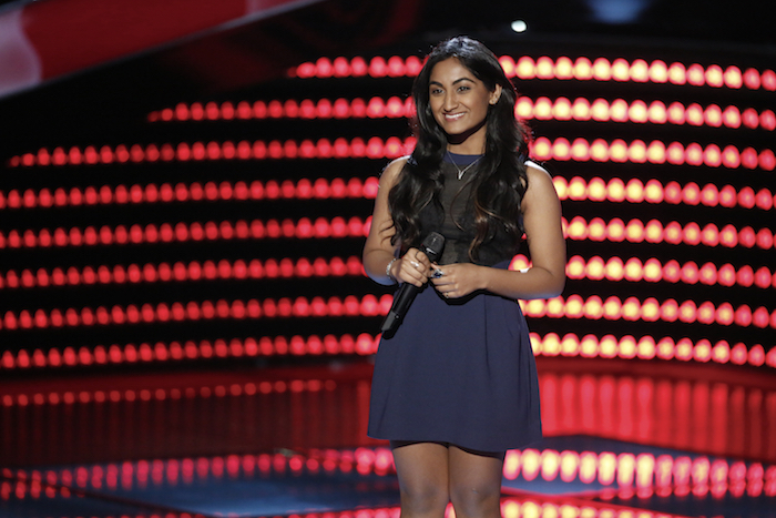 """THE VOICE -- """"Blind Auditions"""" -- Pictured: Moushumi Chitre -- (Photo by: Tyler Golden/NBC)"""