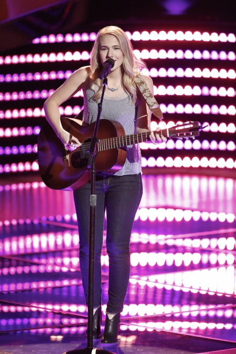 """THE VOICE -- """"Blind Auditions"""" -- Pictured: Peyton Parker -- (Photo by: Tyler Golden/NBC)"""