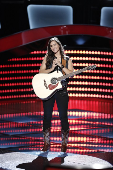 "THE VOICE -- ""Blind Auditions"" -- Pictured: Angie Keilhauer -- (Photo by: Tyler Golden/NBC)"