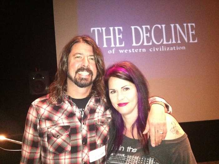 Dave Grohl and Anna Fox at Decline of Western Civilization Commentary Recording