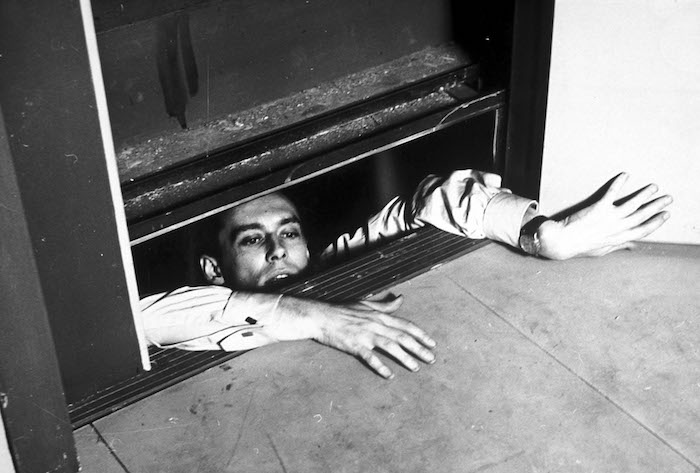 Maurice Ronet in Louis Malle's ELEVATOR TO THE GALLOWS. (1961) Photo courtesy of Rialto Pictures.