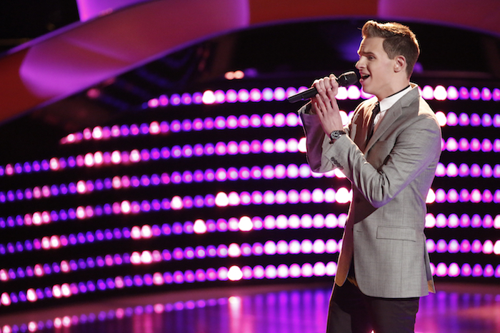 """THE VOICE -- """"Blind Auditions"""" -- Pictured: Riley Elmore -- (Photo by: Tyler Golden/NBC)"""
