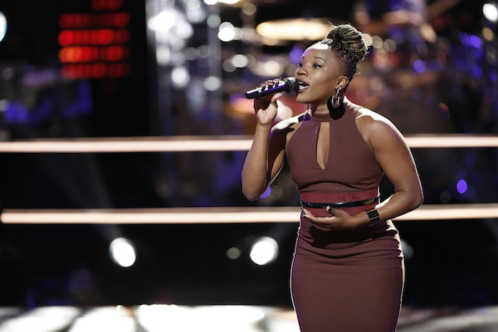 "THE VOICE -- ""Knockout Rounds"" -- Pictured: Simone Gundy -- (Photo by: Tyler Golden/NBC)"