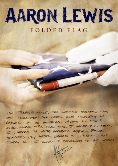 Folded Flag - Courtesy of Big Machine Records