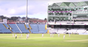It was Glamorgan's day at Headingley (picture via Yorkshire Cricket YouTube, with thanks)