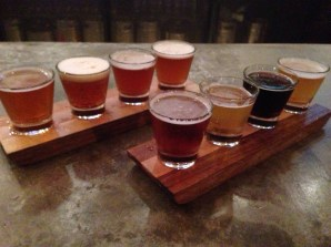 Local brews in our flights