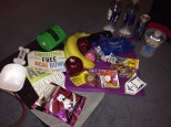 All the freebies were great! Glad I got my fruit snacks for lunch the next day.
