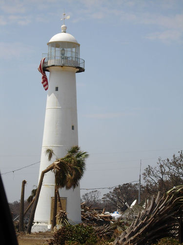 Hurricane Katrina - Biloxi Lighthouse, Flag