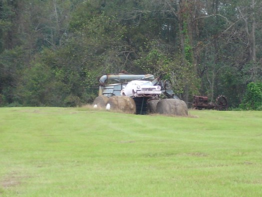 Racecar at Jim Bird's Hay Creations, Forkland AL
