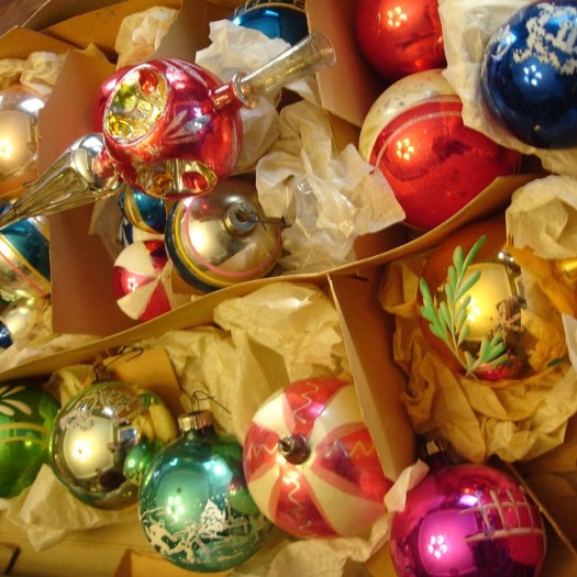 Suzanne's Shiny Brite Ornaments