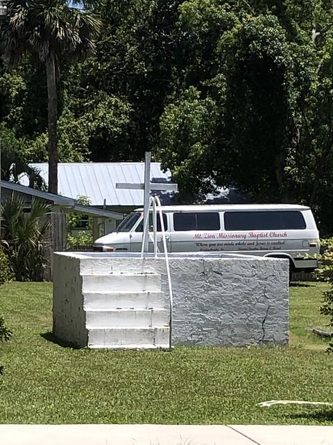Outdoor Baptismal, Mt Zion Missionary Baptist Church, Apalachicola FL