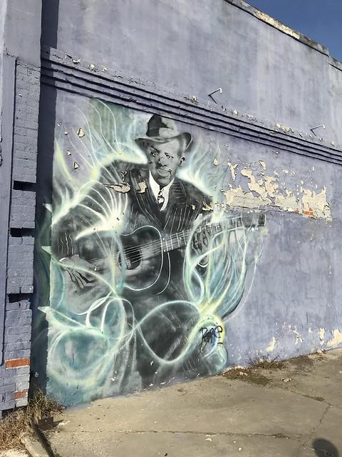 Robert Johnson Mural, Clarksdale MS