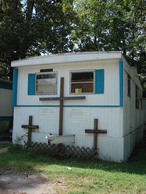 Religious Scene on Mobile Home, Jefferson County Alabama