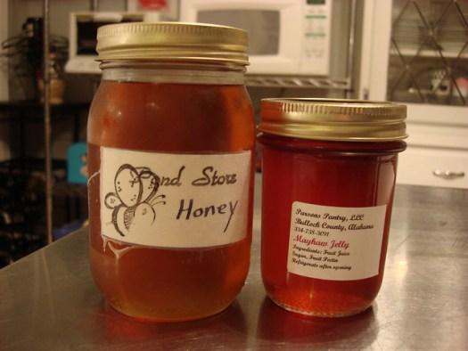 Pond Store honey, mayhaw jelly
