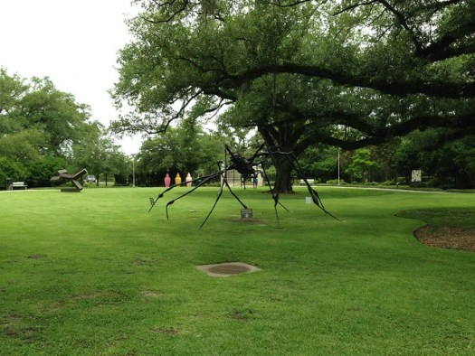 Louise Bourgeois 'Spider' 1996 at the Sydney and Walda Besthoff Sculpture Garden at NOMA, New Orleans
