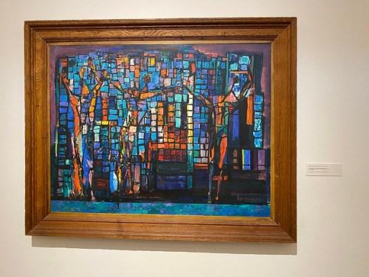 Abraham Rattner, Composition with Three Figures, Montgomery Museum of Fine Arts, Montgomery AL