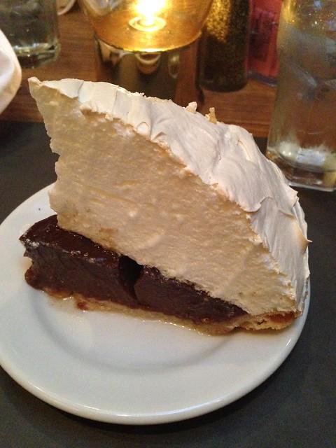 Chocolate Meringue Pie, Crystal Grill, Greenwood MS
