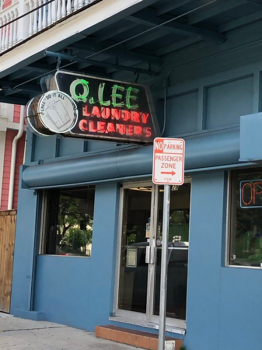 Q. Lee Laundry Cleaners neon sign, New Orleans