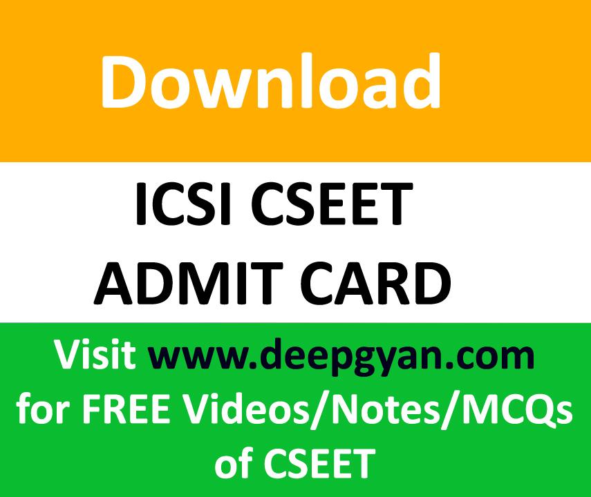 CSEET Admit Card
